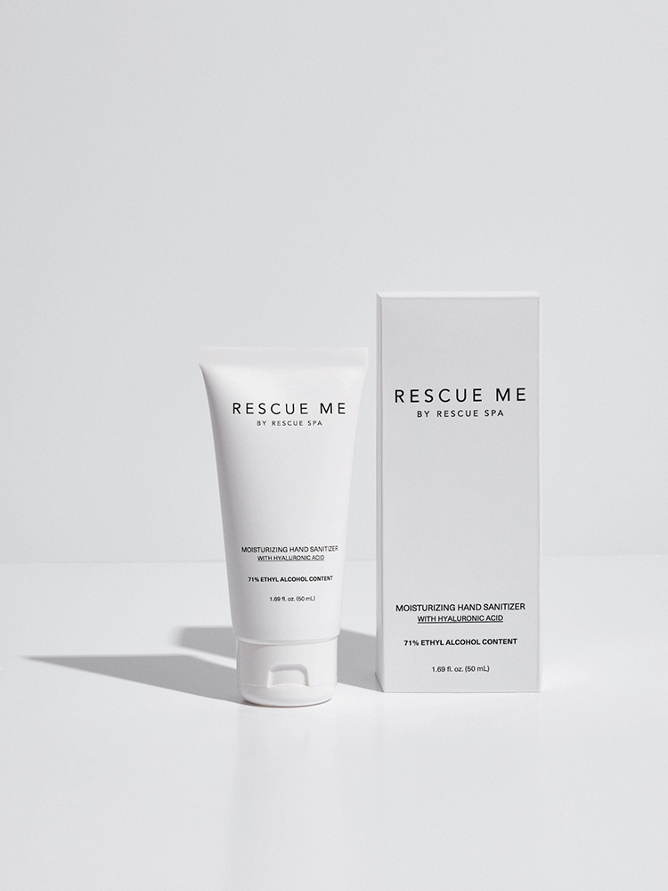 Rescue Me Moisturizing Hand Sanitizer Product Packaging View
