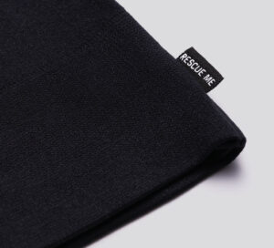 Black cloth gloves, rescue me tage detail